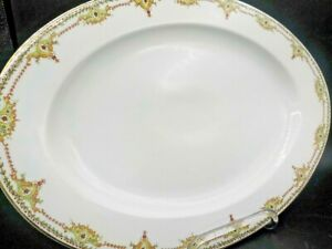 XL-Epiag-Royal-Czechoslovakia-The-Cromwell-Oval-Porcelain-China-Platter-Exc