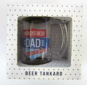 """LESSER & PAVEY FATHERS DAY BEER TANKARD """"WORLD'S BEST DAD GUARANTEED"""" LP33356"""