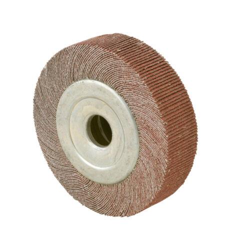 "6/"" x 1/"" Arbor Hole 80 Grit Unmounted Flap Wheel Aluminum Oxide CGW 41047"