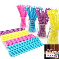 "100 X 3.94"" LOLLIPOP STICKS CAKE POPS SWEETS LOLLIES CRAFTS BAKING Xmas Tools tk"
