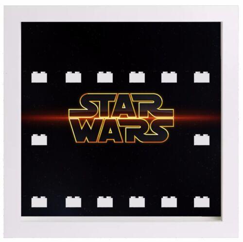 Lego Minifigure Display Case Frame Star Wars logo minifigs