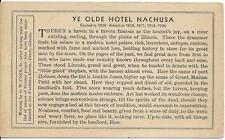 Postcard - Nachusa Hotel - Dixon IL   Unposted