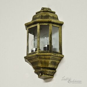 Vintage Gold Wall Lights : Large Ship Lamp with 2x E27 antique gold Outdoor wall light Outdoor lamp Lights eBay