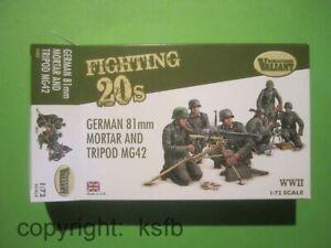 1-72-Valiant-002-WKII-Deutsche-schwere-Infanterie-MG-42-Dreibein-Granatwerfer