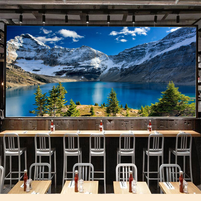 3D Mountain, lake 676 Wall Paper Print Wall Decal Deco Indoor Wall Murals