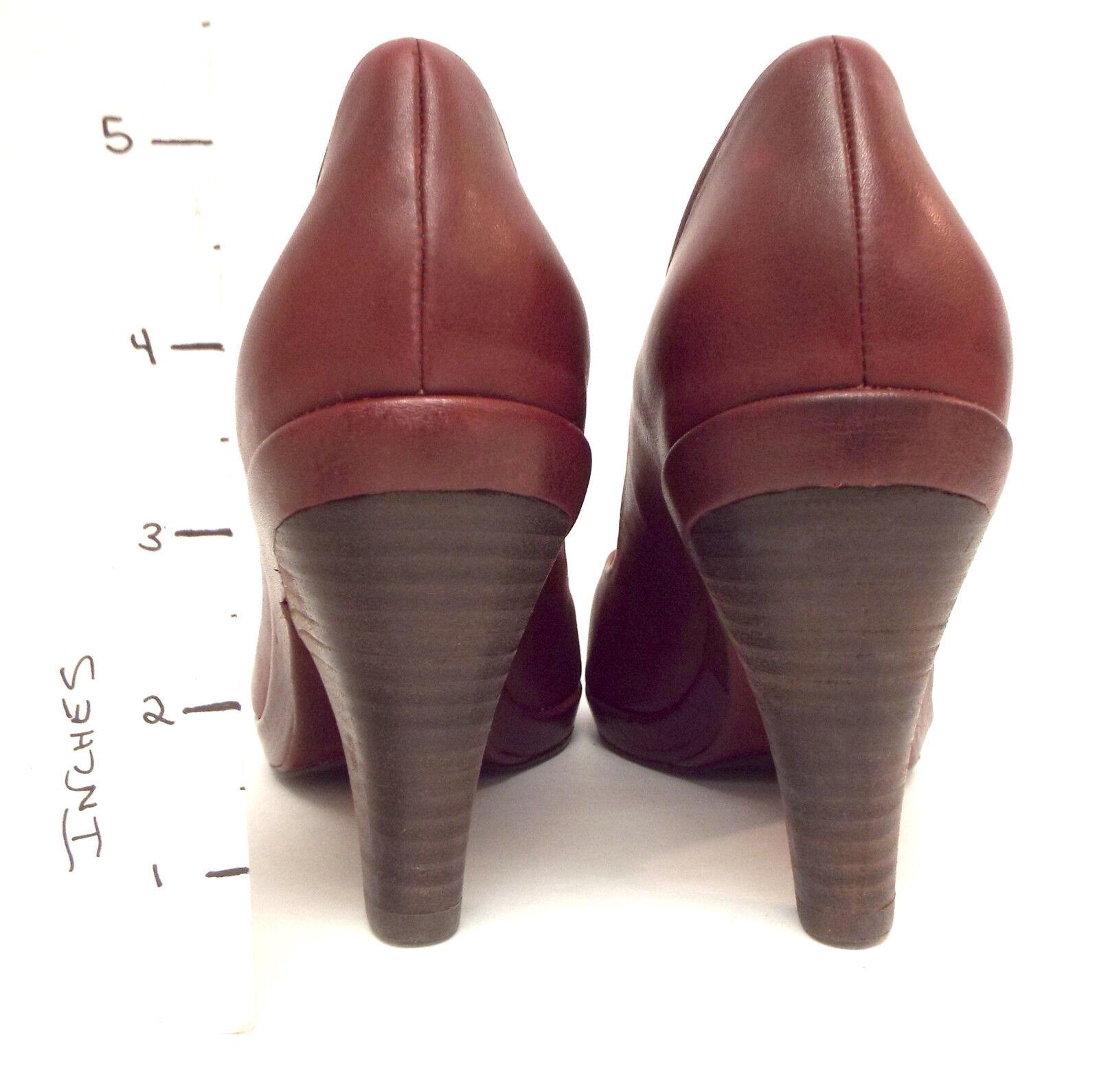 NEU COCLICO Größe 7.5 Dark ROT POLLY Peep Toe Heels Pumps Schuhes 38
