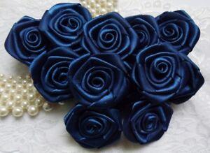 """W Light Blue Polyester Ribbon Bows w//Beads DIY-50 pcs R0034BL 1/"""""""