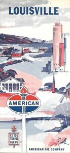 Details about 1965 AMERICAN OIL Road Map LOUISVILLE Kentucky Churchill on louisville map, texas motor speedway map, santa anita map, elizabethtown map, cave hill cemetery map, emerald downs map, madison square garden map,