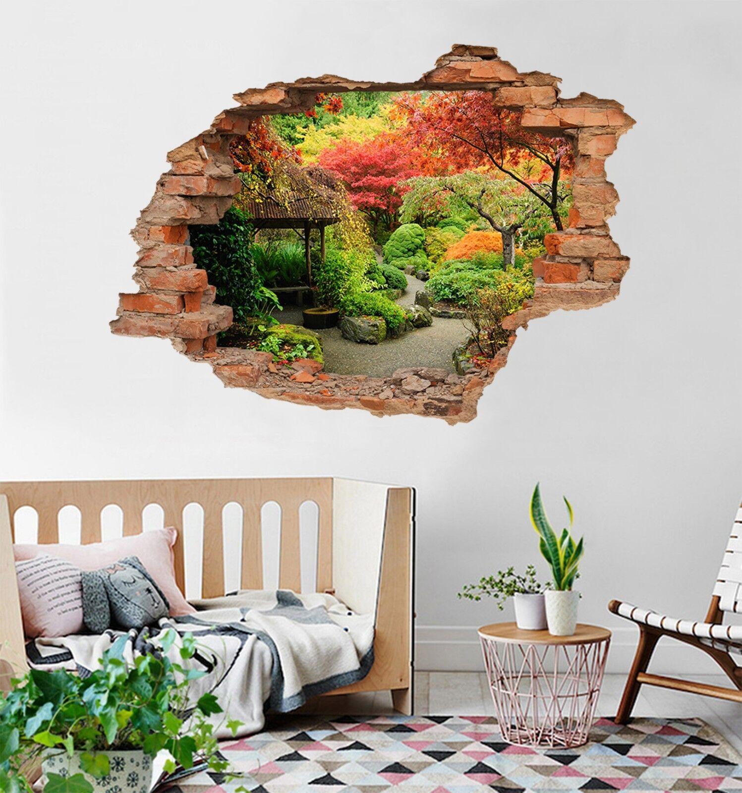 3D Farbe Park 143 Mauer Murals Mauer Aufklebe Decal Durchbruch AJ WALLPAPER DE