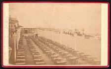 Pays-Bas. La Haye Plage de Scheveningen. Photographe M.M. Couvée. CDV Vers 1890