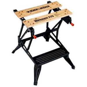 Black & Decker Workmate 225 Portable Project Center WM225 New