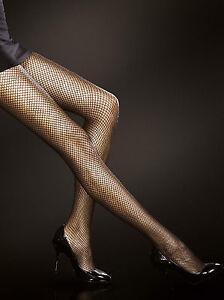 Collant-sexy-a-rete-nero-o-rosso-donna-Fiore-Greta-T2-T3-T4
