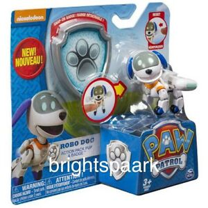 Paw-Patrol-Toy-Robo-Dog-RoboDog-Action-Pack-Pup-Badge-Nickelodeon-Kids-Gift-NEW