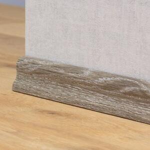 Parkett Sockelleisten sockelleisten laminat parkett 40mm eiche grau ebay