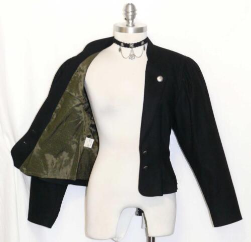 Pleated Elegant Suit Women 38 ~ Austria Black 741587284437 Dress Xs Wool 4 Short Jacket Coat wCxgX8qnT8