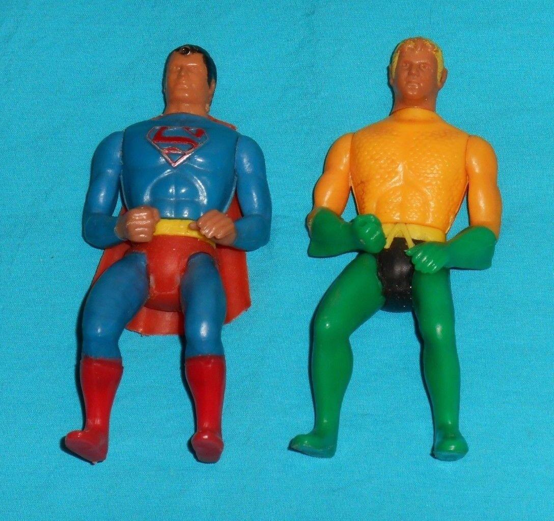Vintage Mego COMIC ACTION HEROES AQUAhomme &  SUPERhomme LOT (figures only)  se hâta de voir
