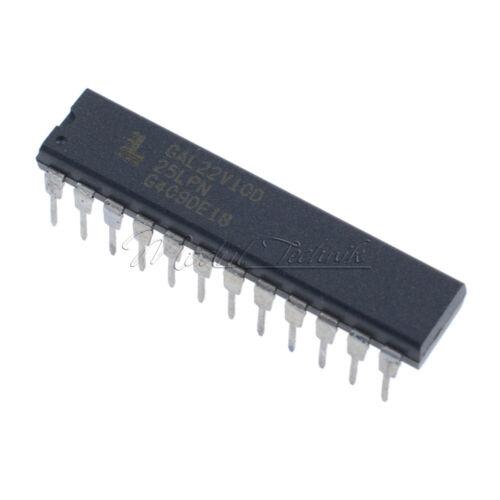 10PCS GAL22V10D DIP-24 Gitter NEU GAL22V10D-15LP IC