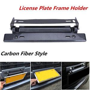 Adjustable-Universal-Carbon-Fiber-Racing-License-Number-Plate-Frame-Holder-fb