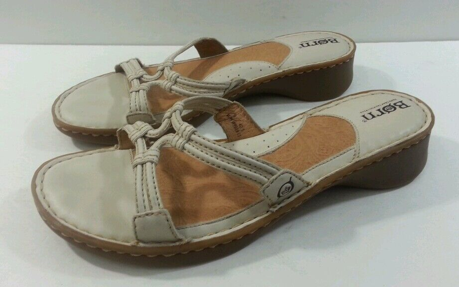 Born Women's 9M Beige Sandals - Size 9M Women's da3ed0