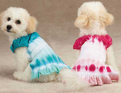 East Side Peace Out Ruffle Dog Skirts Pet Summer Clothes New Eye Catching Dress