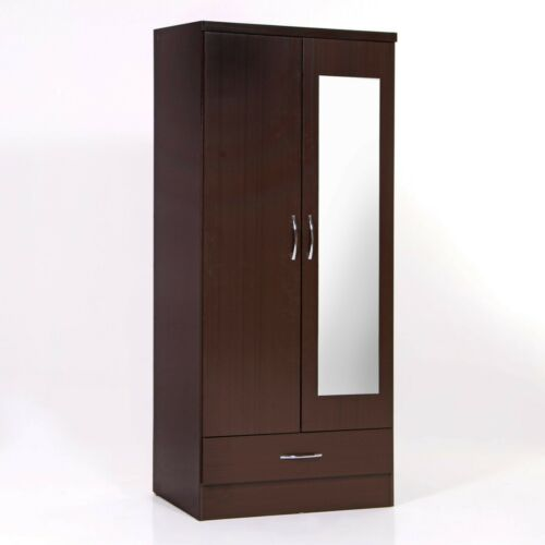 Nevada 2 Doors Wardrobe with Mirror