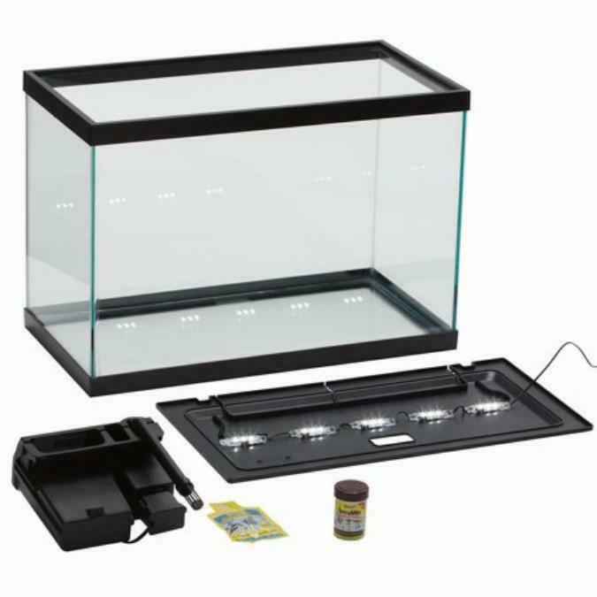 20Gallon Aquarium Pet Fish Tank Starter Kit With LED Light And Filter System