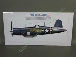 WWII-Marines-VMF-351-F4U-1D-Corsair-Ace-Donald-Yost-FF59-Airplane-Art-Okinawa-NR