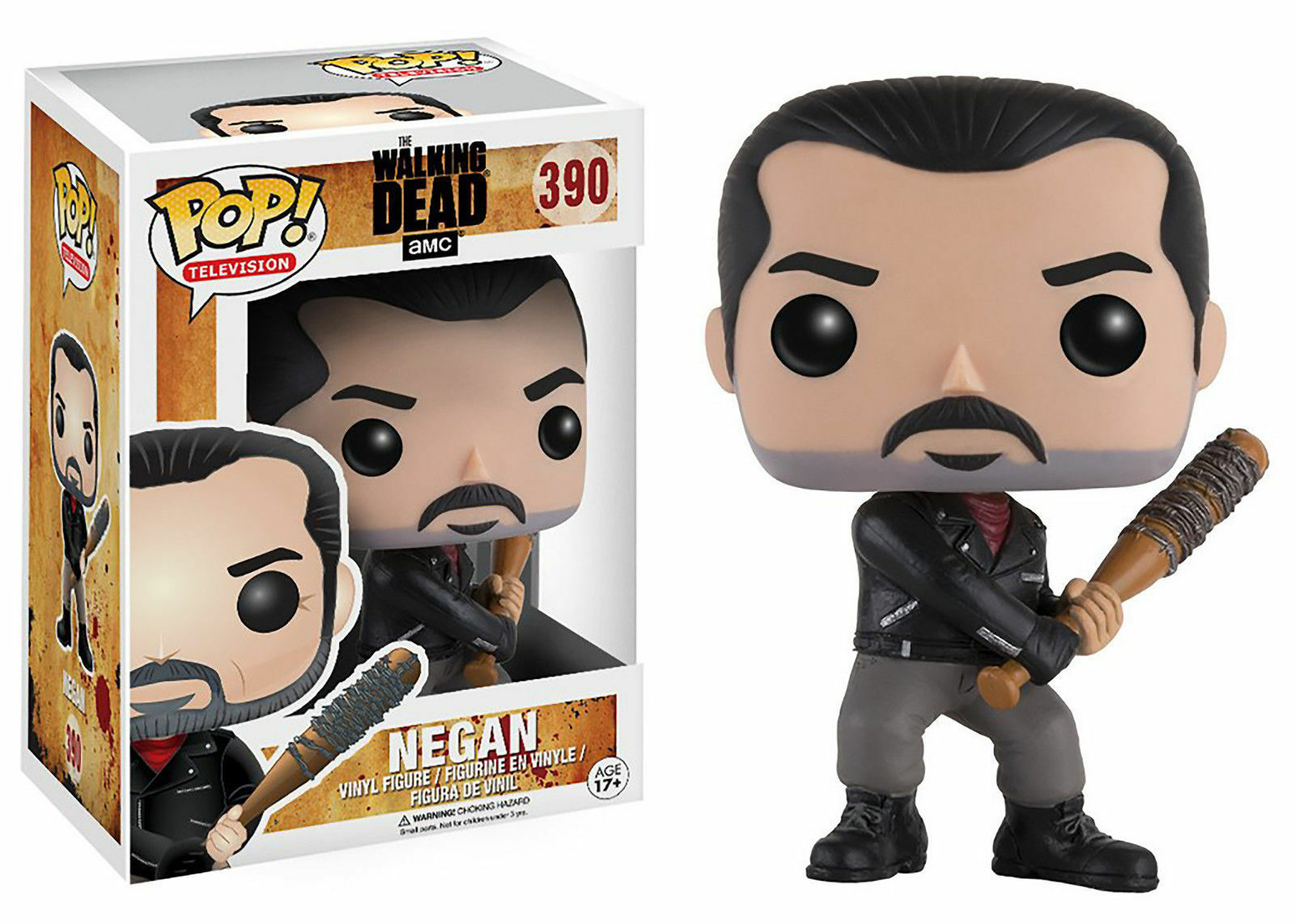 The Walking Dead Negan mit Lucille 9.5cm Pop Pop Pop Vinyl Figur Funko 390 156189
