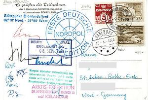 Polarpost BRD: ERSTE DEUTSCHE NORDPOL EXPEDITION 1966 - signiert