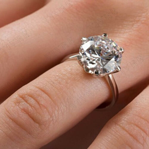 2.00CT ROUND CUT DIAMOND ENGAGEMENT WEDDING SOLITAIRE RING 14k WHITE GOLD OVER
