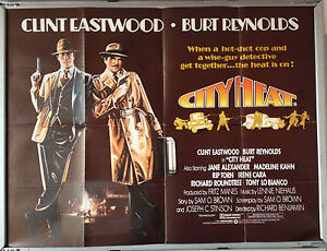 Cinema-Poster-CITY-HEAT-1984-Quad-Clint-Eastwood-Irene-Cara-Burt-Reynolds