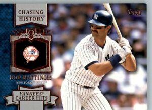 2013 Topps Chasing History #CH-13 Don Mattingly - New York Yankees