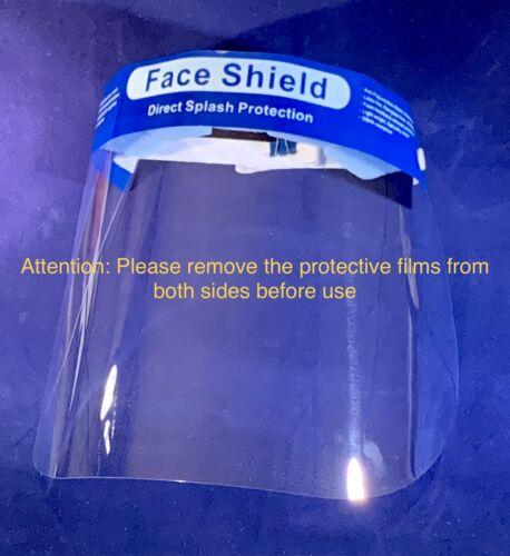 200 PC Anti-Fog Full Face Shield Clear For Medical /& Dental FDA Registered