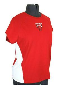 NBA-Chicago-Bulls-Basketball-Women-039-s-XL-Red-amp-White-Stretch-Top-T-Shirt