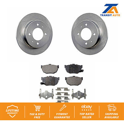 REAR KIT Performance Disc Brake Rotors /& Ceramic Pads for Hyundai Elantra