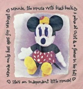Disney-Minnie-Mouse-Plush-Figure-Graphic-T-Shirt-MEDIUM-Pink-Mickeys-World-Stuff