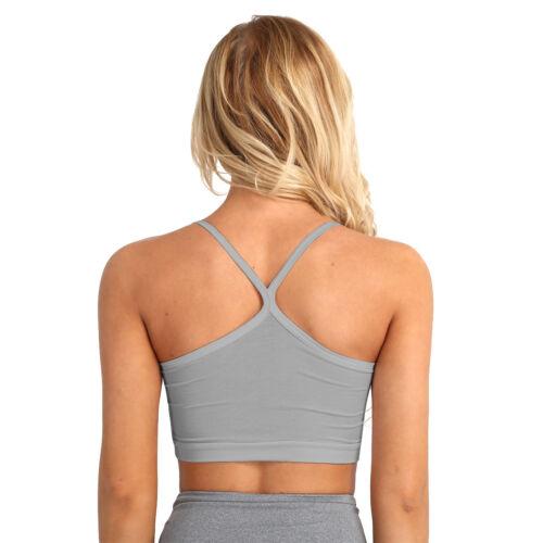 Women Spaghetti strap Sleeveless Cami Vest Tank Shirt Blouse Crop Tops Camisole