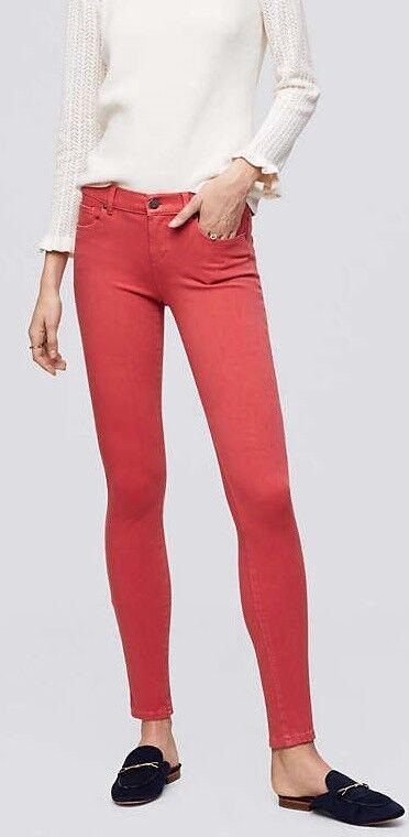 Ann Taylor LOFT 4 Way Stretch Denim Leggings Pants Various Sizes NWT Watermelon