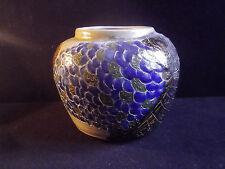 Superbe Vase en céramique travail d'artiste pièce unique, signature à déchiffrer