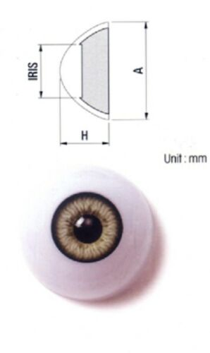 MUST READ RED DESCRIPTION ACRYLIC LIFE LIKE DOLL EYES ~ 28mm HALF ROUND