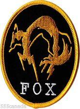 Metal Gear Solid FOX Logo Patch IRON ON - Snake Phantom Pain 2 3 4 V