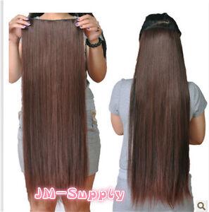 Postiche-Extensions-Cheveux-Demi-perruque-5-Clip-Extension-70cm-Hiztfaser-Neuf