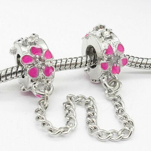 Nouveau Européen 1pcs Argent 925 Zircon Cubique Charme Beads Fit Collier Bracelet Chaîne Pendentif