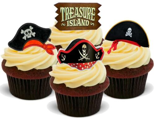Nouveauté Pirate Chapeaux Mix C 12-48 Vanille Cake Topper Comestible Glaçage Treasure Island