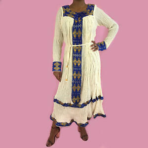 Details about Ethiopian Dress, Habesha Kemis, Traditional African Women's  Clothes