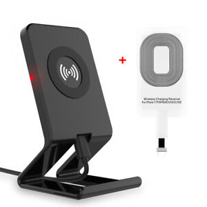 qi wireless charger charging induktion ladeger t f r apple iphone 5s 6 6s 7 plus ebay. Black Bedroom Furniture Sets. Home Design Ideas
