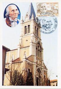 Carte Postale Maximum Premier Jour // Saint J.m.b. Vianney Ars Sur Formans 1985