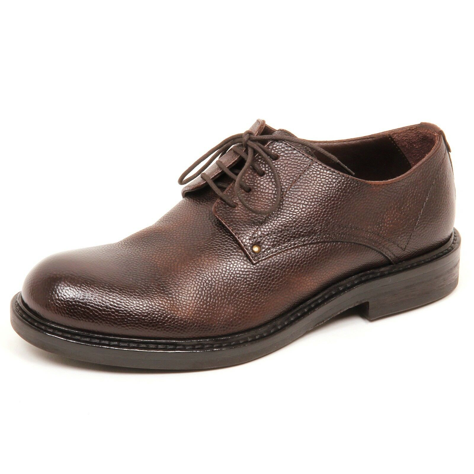 E0652 scarpa uomo brown HUNDRED 100 scarpe vintage shoe man