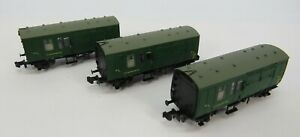 N-Gauge-Farish-3x-BR-Mk1-Horse-Boxes-SR-Green-UNBOXED-From-370-185-NW13