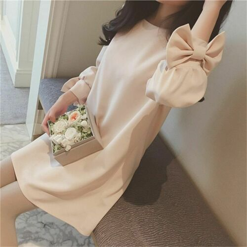 Female Maternity Blouse Lovely Top Shirts Bow Knot Nursing Clothes Long Sleeves